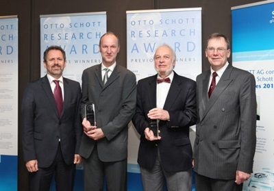 Otto Schott Research Award: 2012 winners