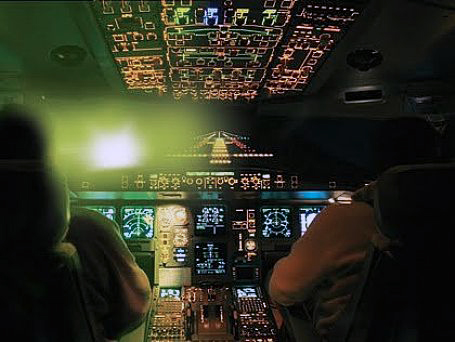 In the U.S. there are 10 laser attacks on airplanes each day.