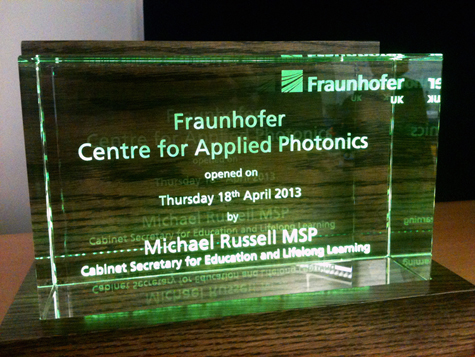 Open for business: Glasgow's Fraunhofer Centre for Applied Photonics.