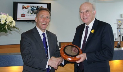Vince Cable MP at Plessey