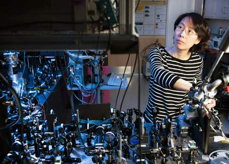 Na Young Kim is part of the Stanford team that has demonstrated a  polariton laser.