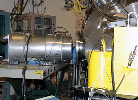 Secure facility: The experimental apparatus used by the Los Alamos scientists.