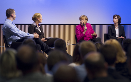 Merkel underlined the importance of family companies such as Trumpf.