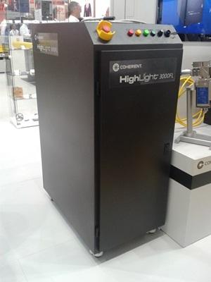 Coherent's 3kW fiber laser prototype in Munich