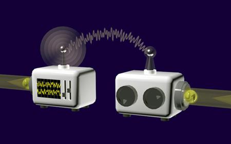 Deterministic quantum teleportation of a photonic quantum bit.
