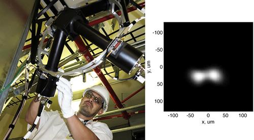 Nifty: Juan Soto prepares the neutron time-of-flight detector.