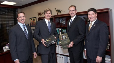 Daylight and Northrop executives with the CIRCM system