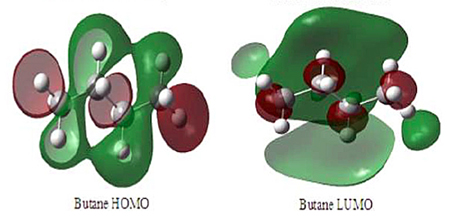 Green grab: Charge density computation of butane and ketone molecules.