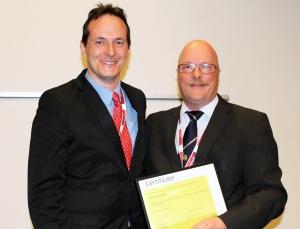 Fiber investigator: Peter Kronenberg (left).