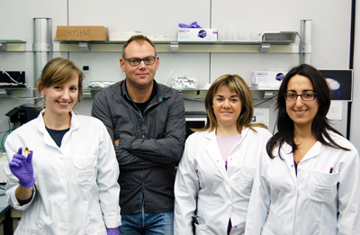 Bright and efficient: Hendrink Bolink and the ICMol team in Valenica.