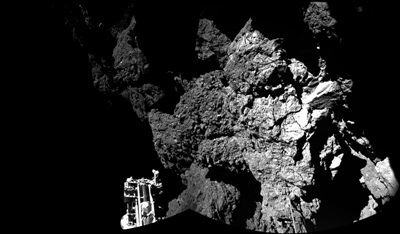 Comet close-up: Philae's first shot from 67P