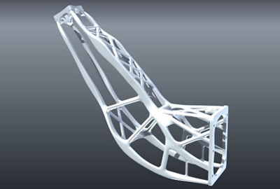 Collaboration: satellite antenna produced by 3D printer.