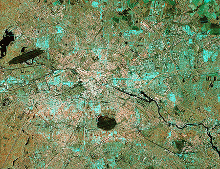Image of Berlin taken from Sentinel-1A, transmitted to Earth via laser.