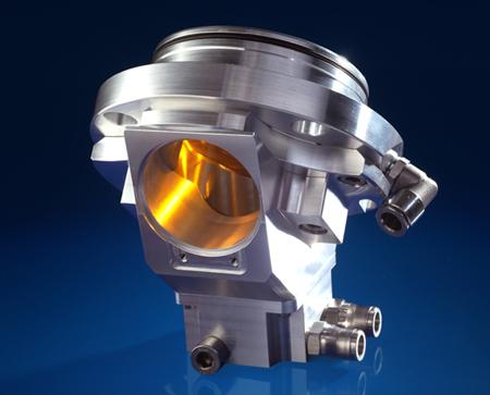 Zinc selenide beam coupling device for laser processing observation.