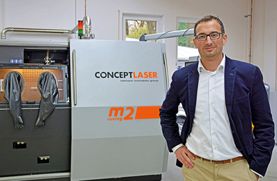 Florian Bechmann, Head of Development at Concept Laser.