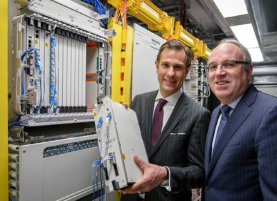 Bellini, CTO Alcatel-Lucent Canada (left), and Graham, CEO of the ORION network.