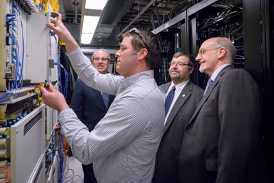The ORION-Alcatel-Lucent team behind the 400G network test.