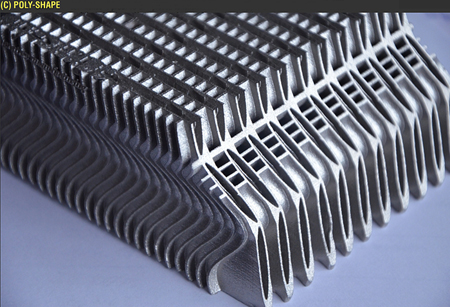 Poly-Shape makes parts for aerospace, helicopters and satellite solar panels.