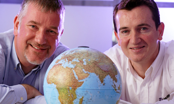 Winners: Scientifica's Mark Johnson and David Rogerson.