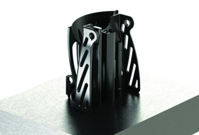 Aerospace seatbealt buckle manufactured in titanium Ti64.
