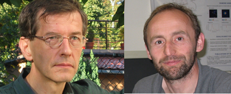 Copernicus prizewinnners: Profs. Marek Żukowski (l) and Harald Weinfurter.