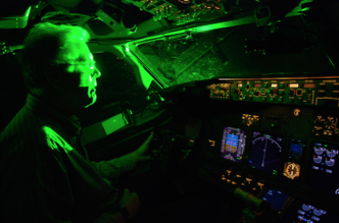 Attack! In 2013, the FBI reported 3,960 aircraft laser strikes in the US alone.