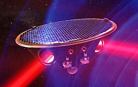 In project eLISA, mother satellite sends laser beams to daughter satellites.