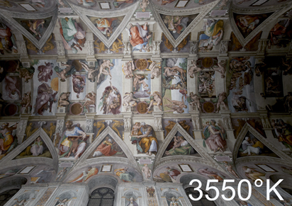 Ceiling the deal: Osram LEDs now illuminate the Sistine Chapel.