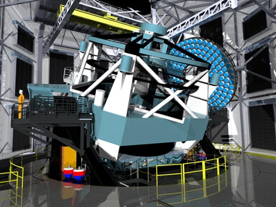 LSST: artist's impression of the 8.4 meter telescope