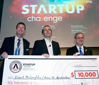 2014 Startup Challenge winner Robert McLaughlin