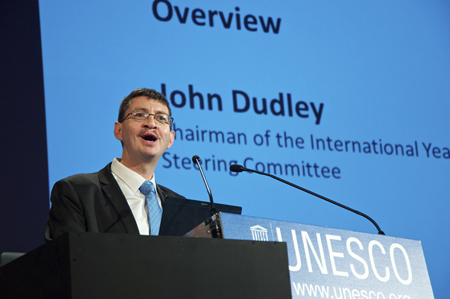John Dudley, Chairman of the IYL 2015 Steering Committee.