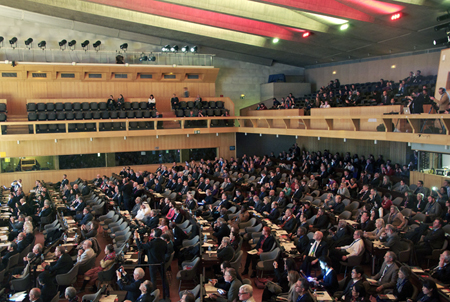 Packed to the rafters: UNESCO HQ in Paris.