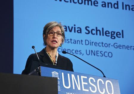 Flavia Schlegel, UNESCO's Assistant DG for Natural Sciences.