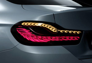 BMW rear light cluster with OLED elements - soon into production.
