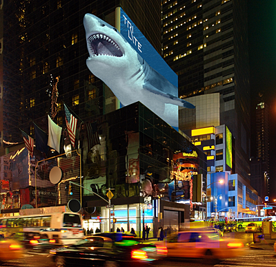 Billboard of the future? A simulation of large-scale glasses-free 3D display.