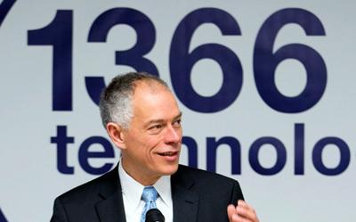 Frank van Mierlo, CEO, 1366 Technologies.