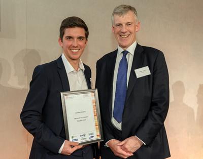 Winner: Jonathan Roberts, Lancaster University and Philip Nelson, CEO, EPSRC.
