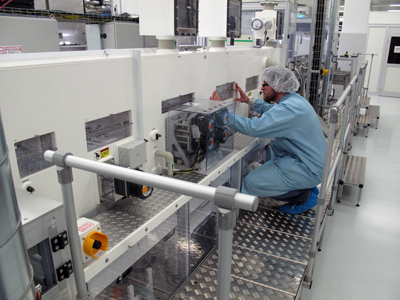 Under new management: Royal Philips' OLED manufacturing facility in Aachen.
