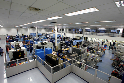 Williams machining and test facility in Oxfordshire, UK.