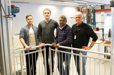 University of Stavanger research team led by Professor Time, right.