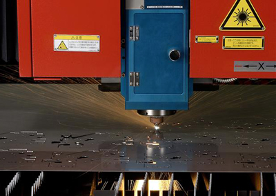 Industrious:  laser cutting of sheet steel at Hutchinson Engineering.