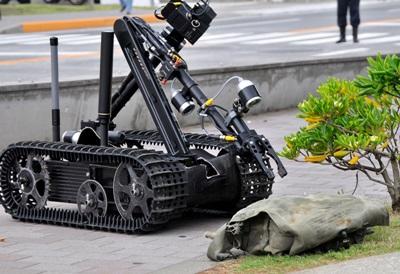 Bomb detector robot