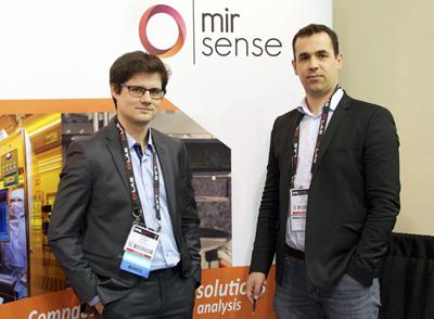 mirSense co-founders Mathieu Carras and Mickael Brun at Photonics West.