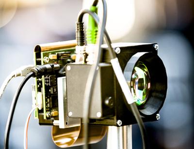 Prototype of QuantIC's single-pixel sensor system.
