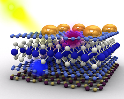 Heterostructures based on 2D atomic crystals for photovoltaic applications.