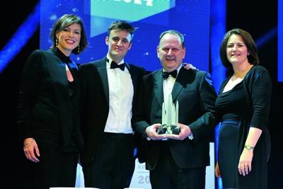 Winner: Optos CEO Roy Davis at the UK PLC Awards