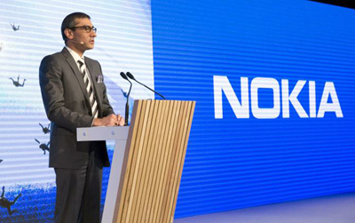 Nokia CEO Rajeev Suri: aims to lead in next-gen network technology.