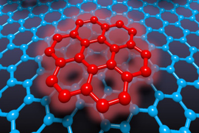 Organic molecules attached to graphene.