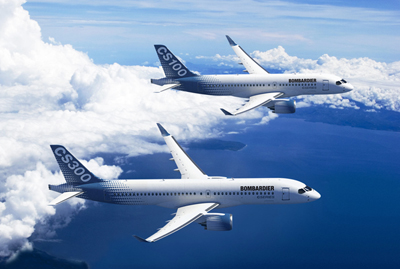 AM components for Bombardier's CSeries aircraft family.