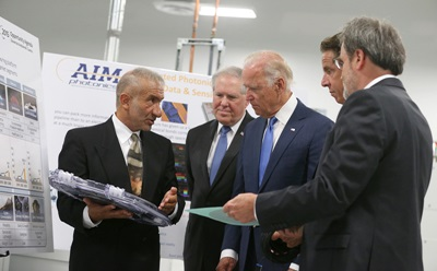 Joe Biden at the AIM Photonics launch